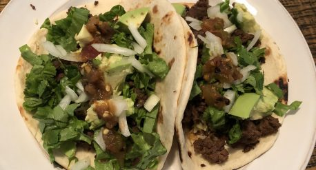 Simple Tacos on a plate