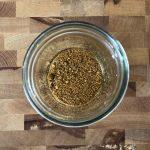 Homemade Taco Seasoning in a mason jar.