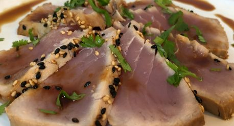 Sesame Seared Tuna with Orange Soy Reduction