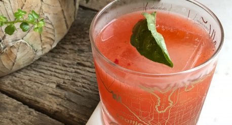 Tipsy Strawberry Basil Lemonade Cocktail