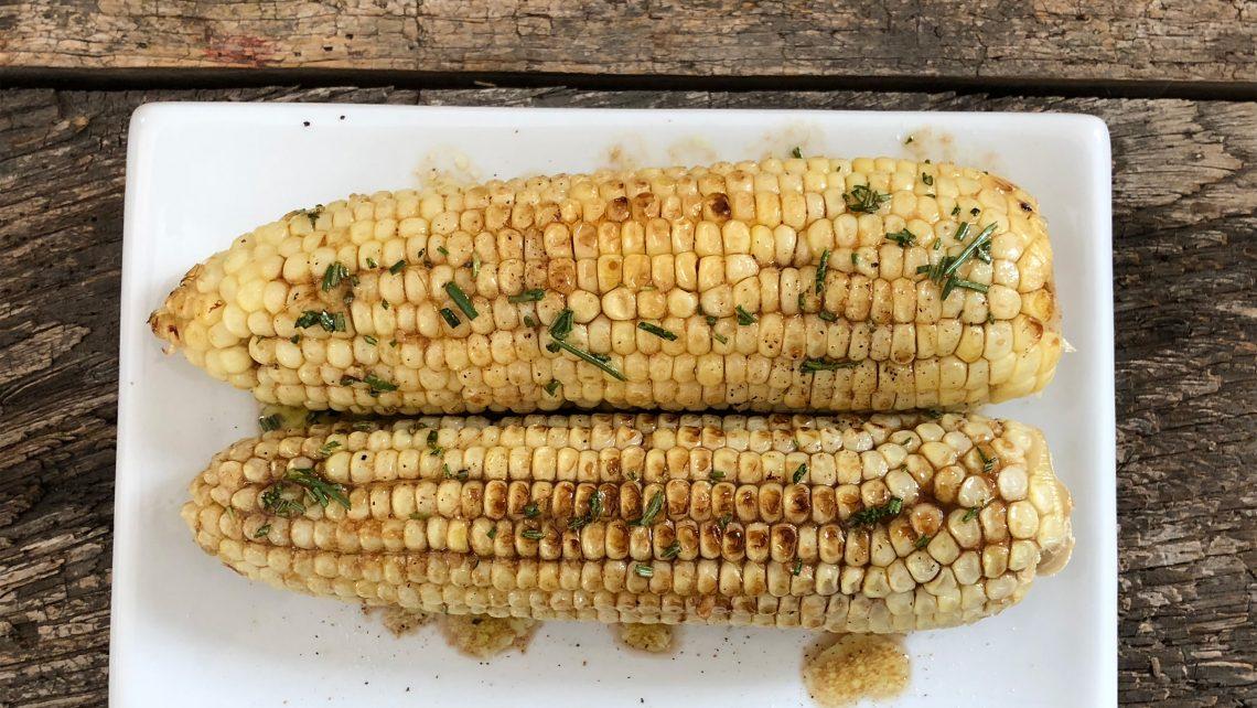 Garlic Rosemary Grilled Corn