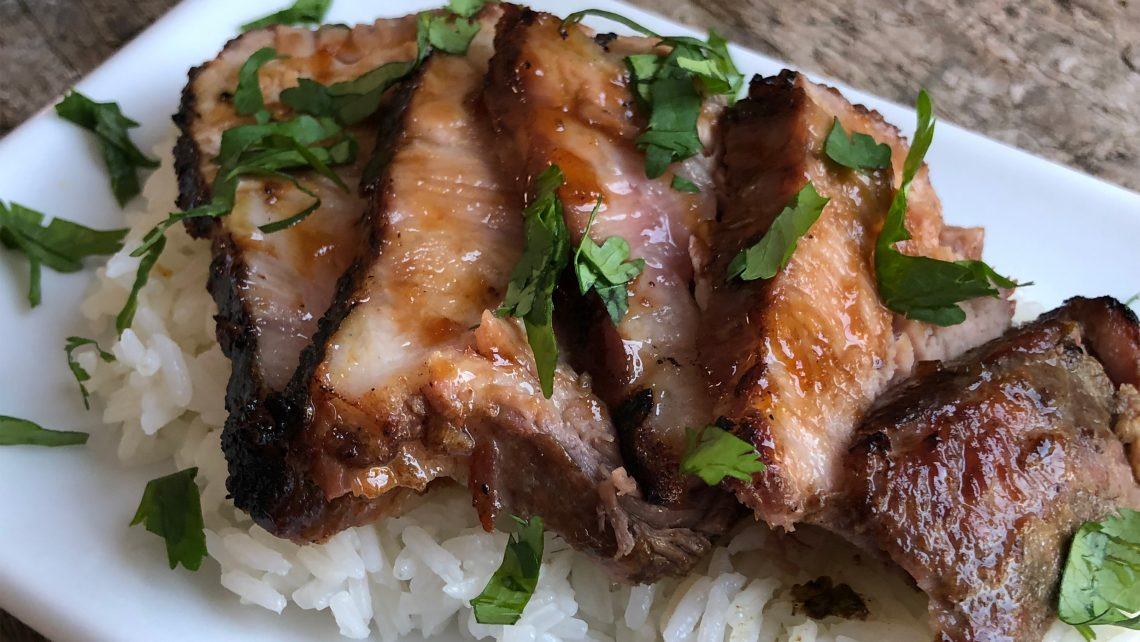 Vietnamese Inspired, Orange Ginger Glazed Pork Shoulder