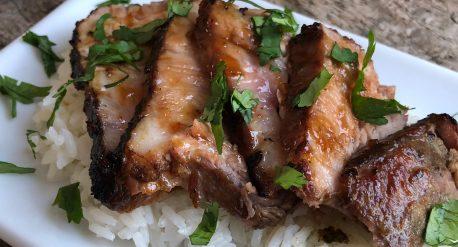 Vietnamese Inspired, Orange Ginger Glazed Pork Shoulder