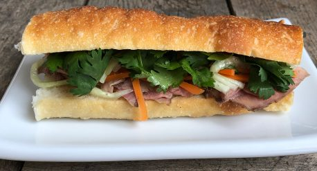 Orange Ginger Pork Shoulder Banh Mi