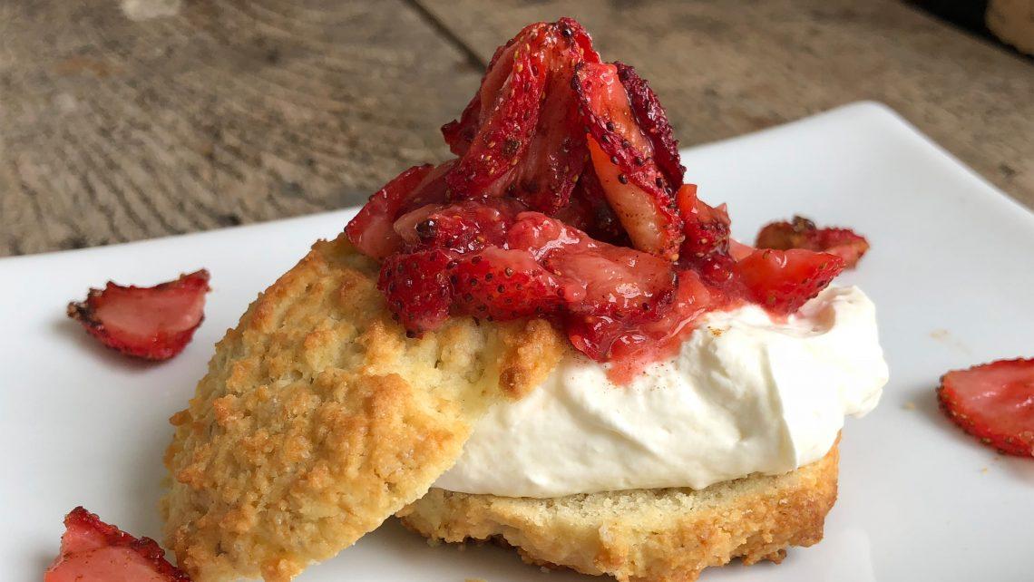 Slow Roasted Strawberry Shortcake