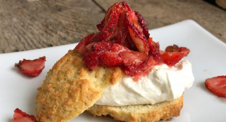 Slow Roasted Strawberry Shortcake