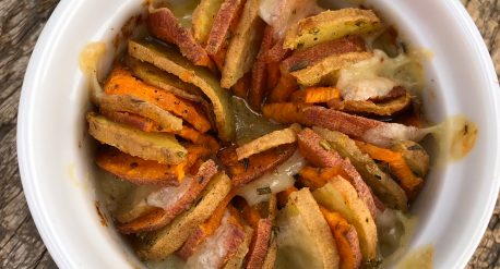 Garlic Rosemary Gruyère Sweet Potatoes