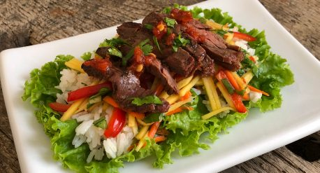 Grilled Lemongrass Beef Salad
