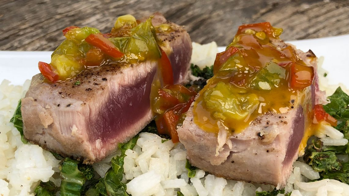 Seared Tuna with Passionfruit and Jalapeño