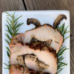 Hazelnut Pesto and Mushroom Stuffed Pork Loin