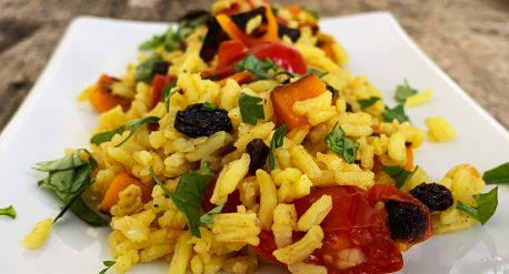Ras el hanout rice with grilled kabocha