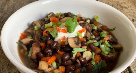 Mushroom and Black Bean Soup