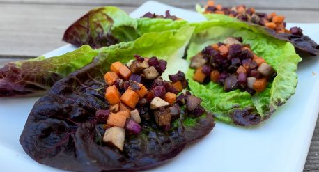 Mushroom and Sweet Potato Lettuce Wraps