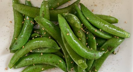 Sesame Pepper Snap Peas