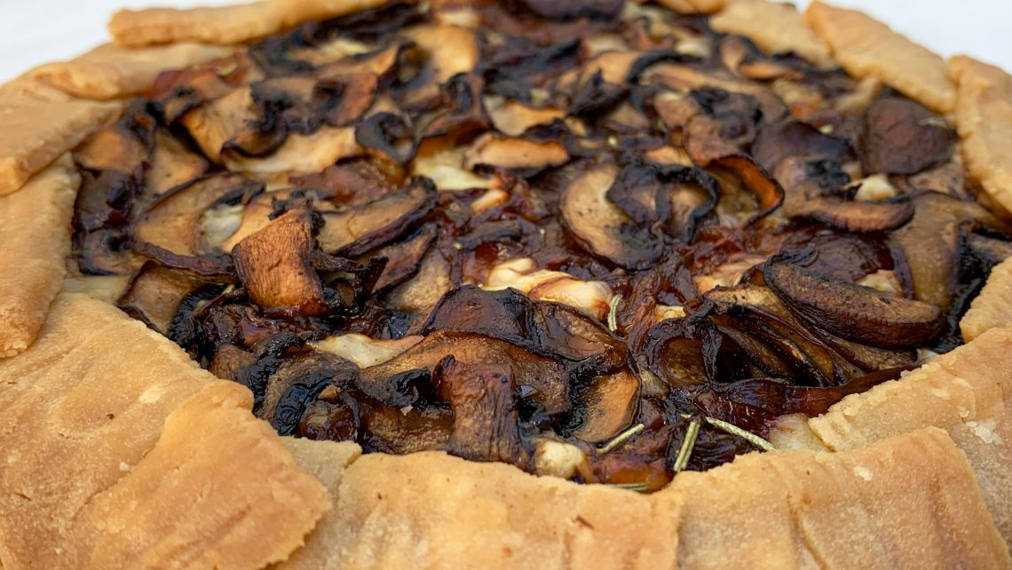 Caramelized Onion and Mushroom Galette