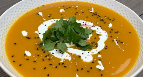 Roasted Kabocha Curry Soup