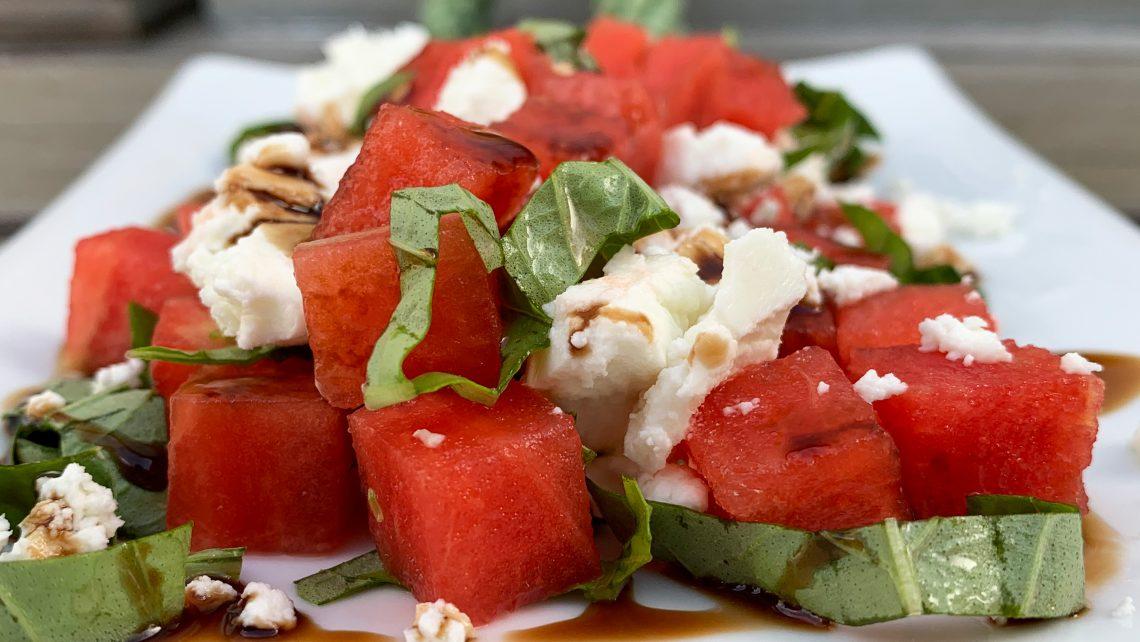 Basil Watermelon Chèvre Salad
