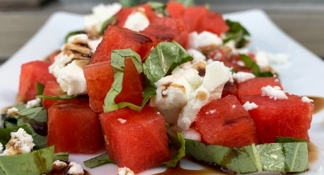 Basil Watermelon Chèvre Salad