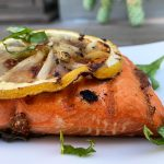 Grilled Sockeye with Charred Lemon and Mustard