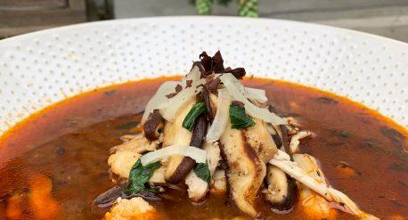 Smoky Miso Shiitake Chicken Soup