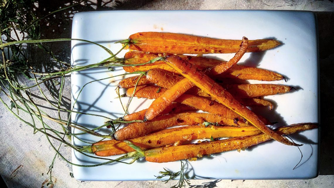 Spicy Marmalade Roasted Carrots