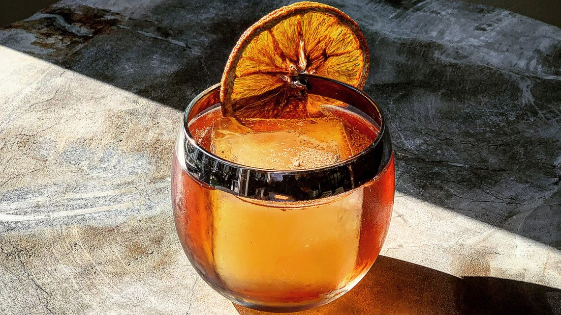 Spiced Sherry Old Fashioned