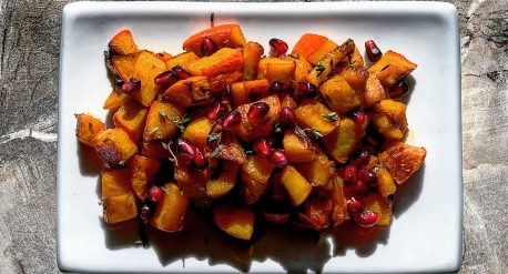 Garlic and Balsamic Roasted Kabocha